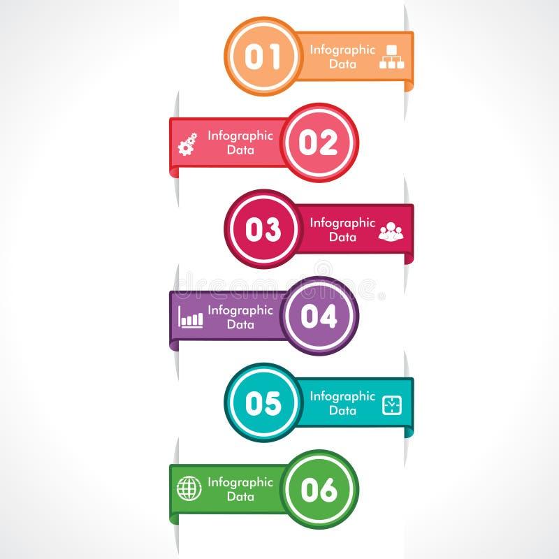 Creatieve informatie-grafische pijl stock illustratie