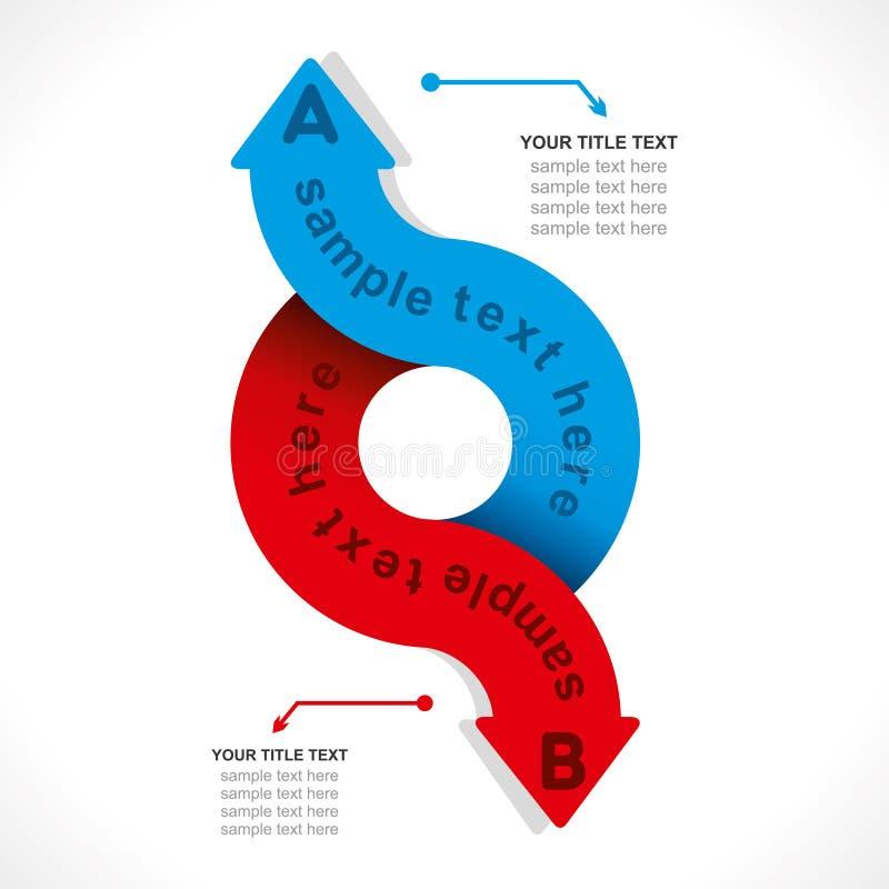 Creatieve informatie-grafische pijl vector illustratie