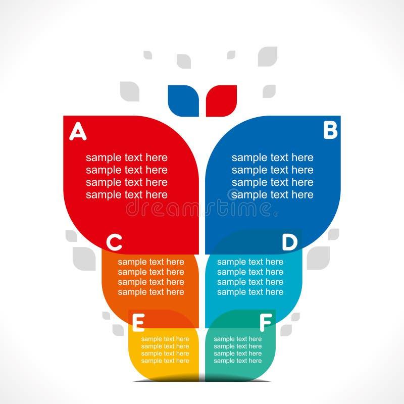 Creatieve installatie informatie-grafiek stock illustratie
