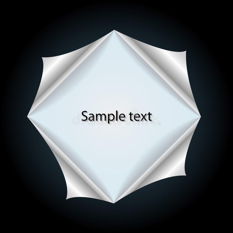 Creatieve kaart met paginahoeken vector illustratie