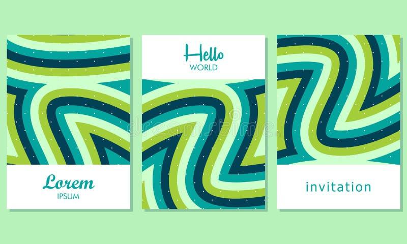 Creatieve Kaarten met Abstracte Achtergrond - Vector stock illustratie
