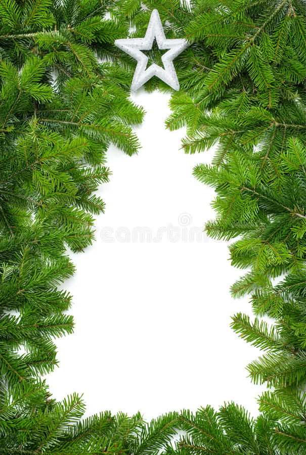 Creatieve Kerstboomgrens stock afbeelding