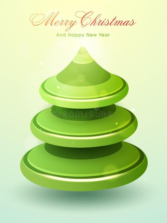 Creatieve Kerstmisboom voor Kerstmis en Nieuwjaar vector illustratie