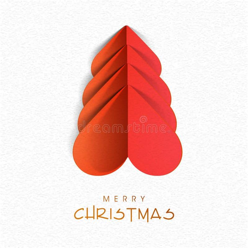 Creatieve Kerstmisboom voor Vrolijke Kerstmis royalty-vrije illustratie