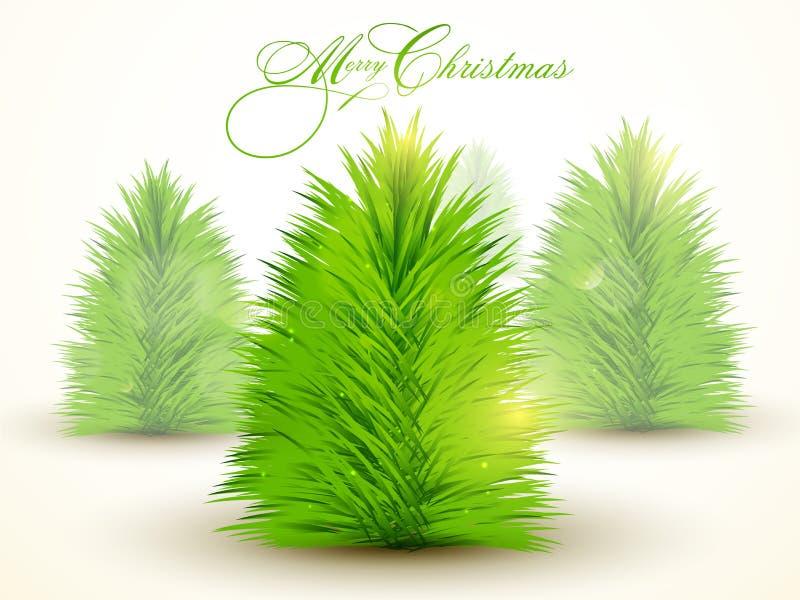 Creatieve Kerstmisboom voor Vrolijke Kerstmis vector illustratie