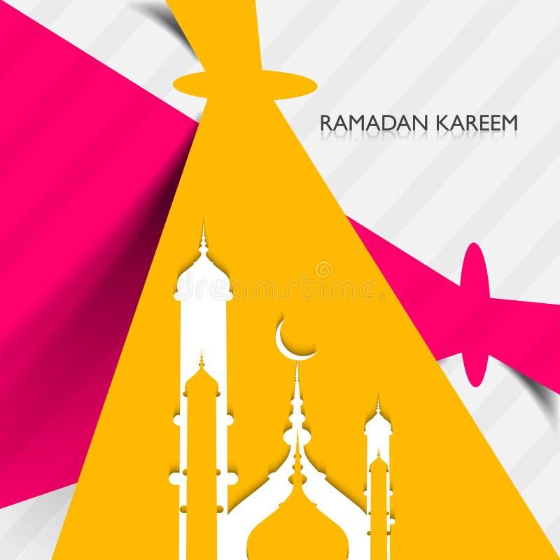 Creatieve kleurrijke concept van moskee het ramadan kareem vector illustratie