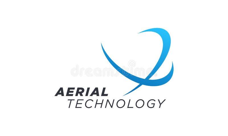 Creatieve Luchtvaart en Luchtvaartlijnen Verwant Bedrijfssymbool stock illustratie