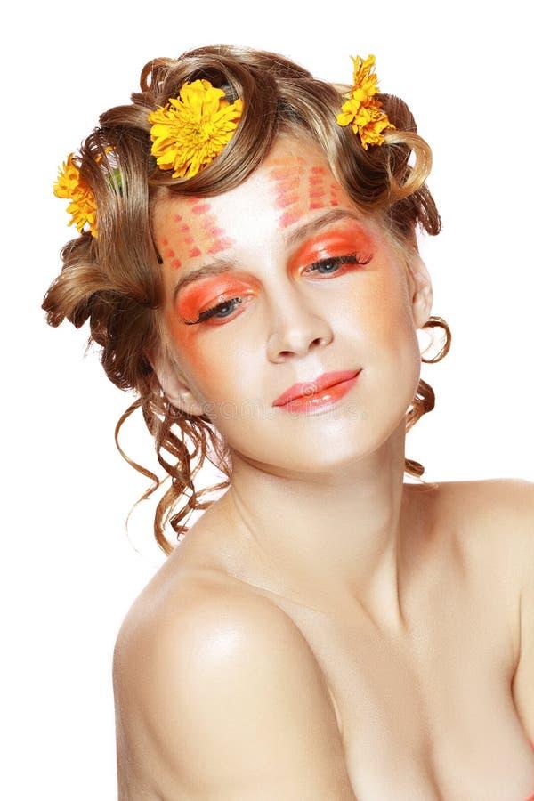 Creatieve make-up stock foto
