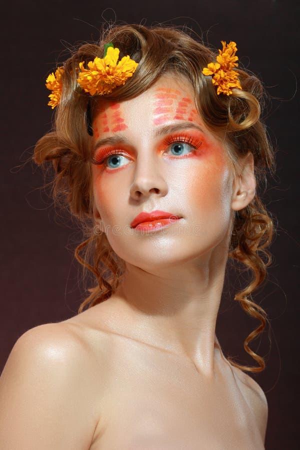 Creatieve make-up royalty-vrije stock foto's