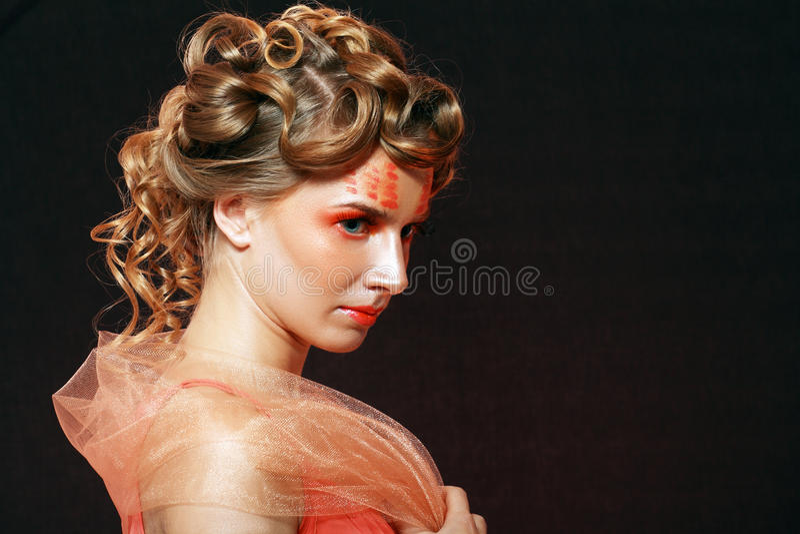 Creatieve make-up royalty-vrije stock fotografie