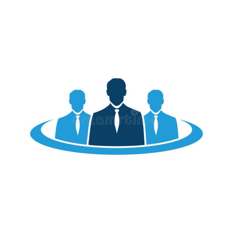 Creatieve Mensen Logo Design Template royalty-vrije illustratie
