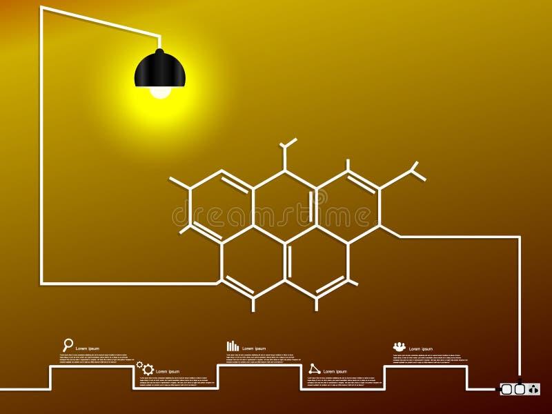 Creatieve moleculaire gloeilamp royalty-vrije stock afbeelding