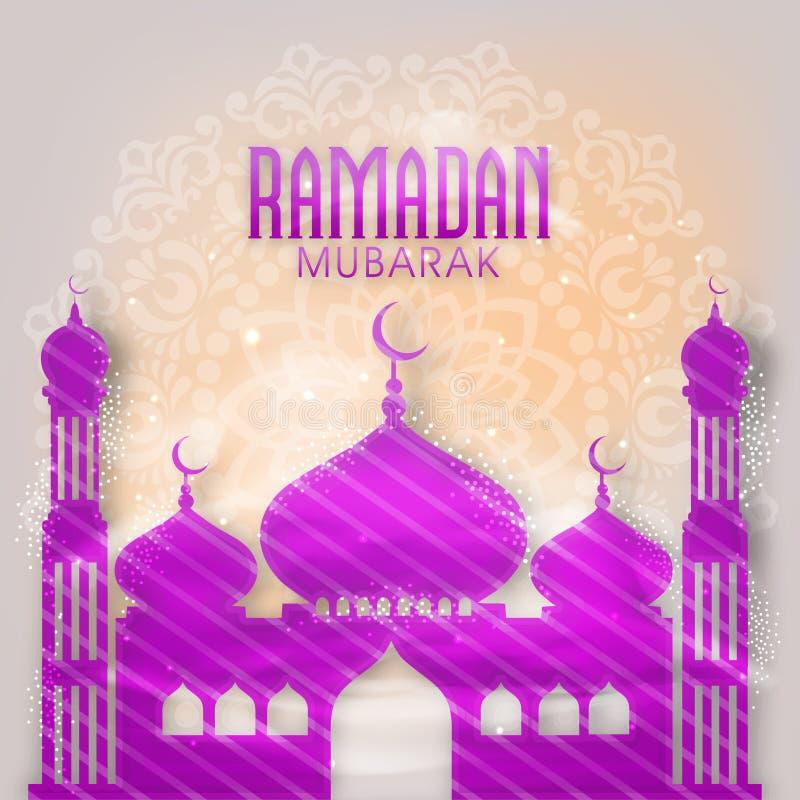 Creatieve Moskee voor Ramadan Mubarak vector illustratie