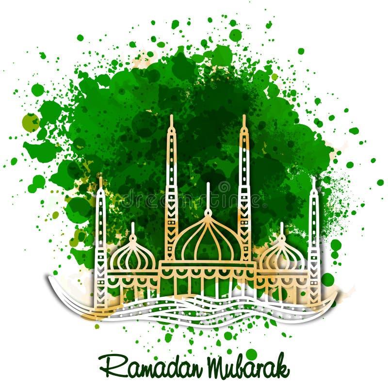 Creatieve moskee voor Ramadan Mubarak-viering royalty-vrije illustratie