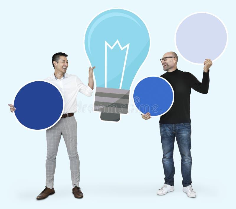 Creatieve partners met heldere ideeën royalty-vrije stock afbeeldingen