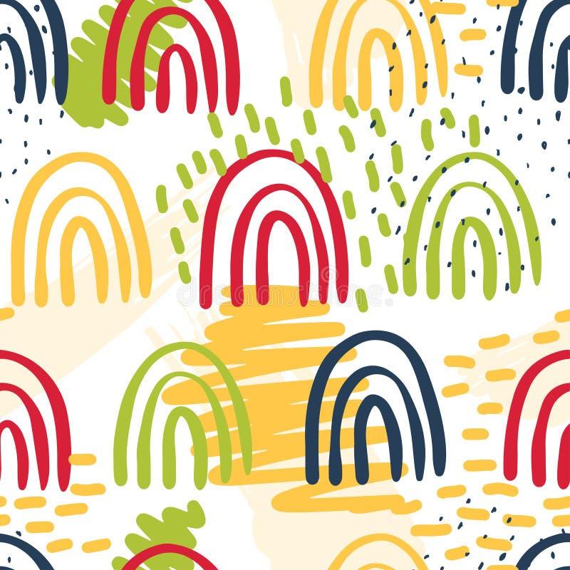 Creatieve patroon naadloze achtergrond met bloemenelementen en verschillende texturen collage Ontwerp voor affiche, kaart, uitnod vector illustratie
