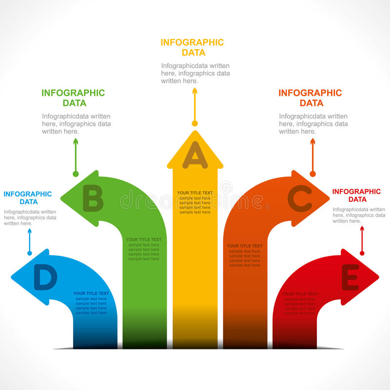 Creatieve pijl informatie-grafiek stock illustratie