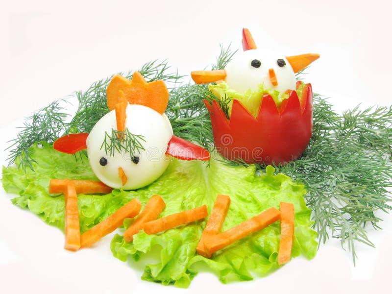 Creatieve plantaardige salade stock fotografie