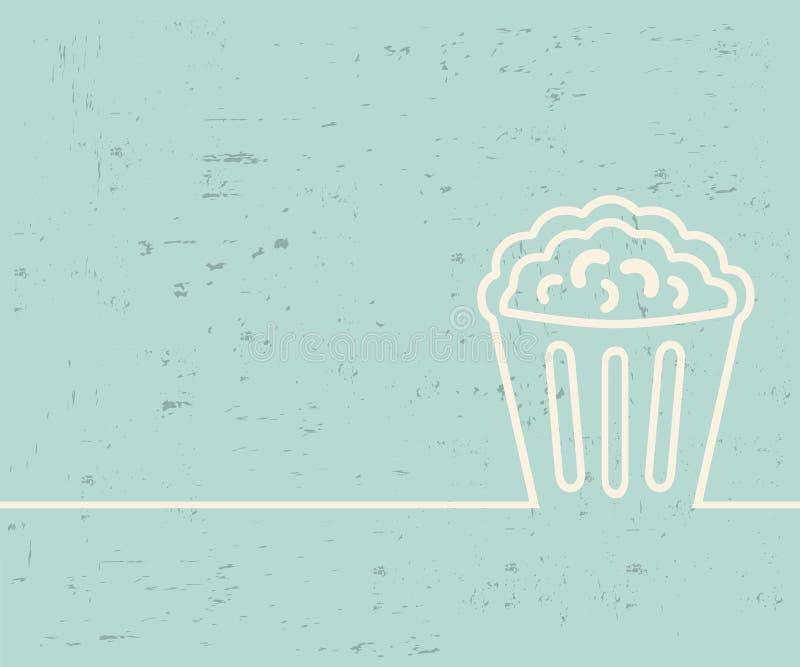 Creatieve popcorn Het malplaatjeachtergrond van de kunstillustratie Voor presentatie, lay-out, brochure, embleem, pagina, druk, b stock illustratie