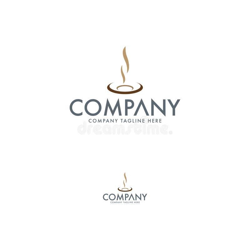 Creatieve restaurant en koffieembleemontwerpsjabloon royalty-vrije illustratie