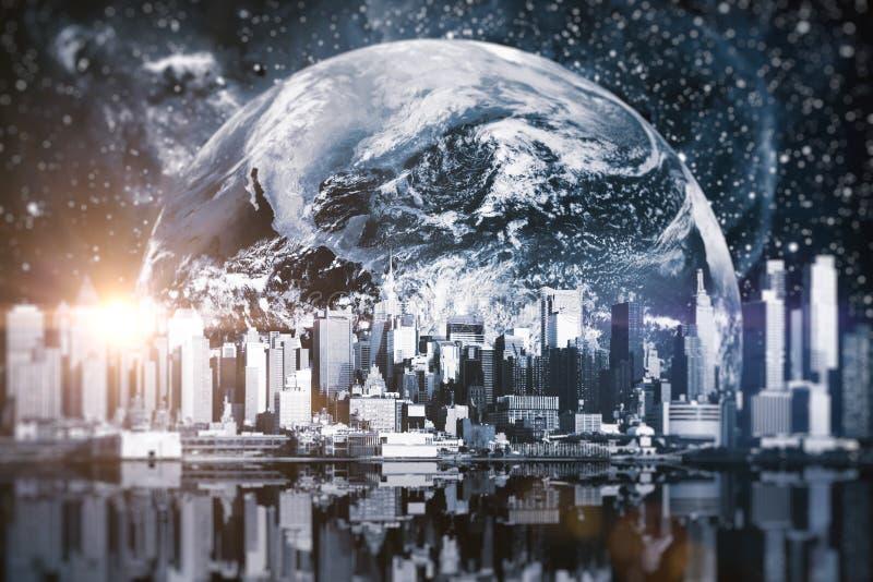 Creatieve ruimtestad royalty-vrije stock foto