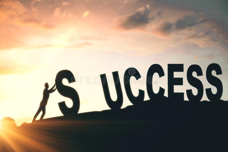 Creatieve succesachtergrond stock illustratie