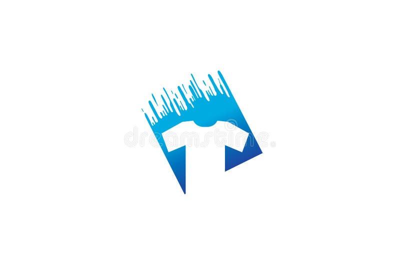 Creatieve T-shirt Silkscreen Logo Symbol Vector Illustration royalty-vrije illustratie