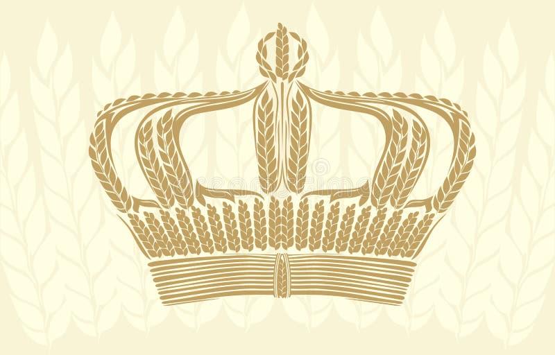 Creatieve tarwekroon royalty-vrije illustratie
