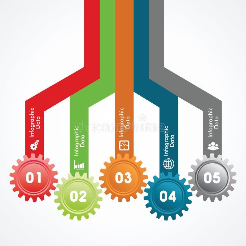 Creatieve toestellen informatie-Grafiek optiesbanner vector illustratie