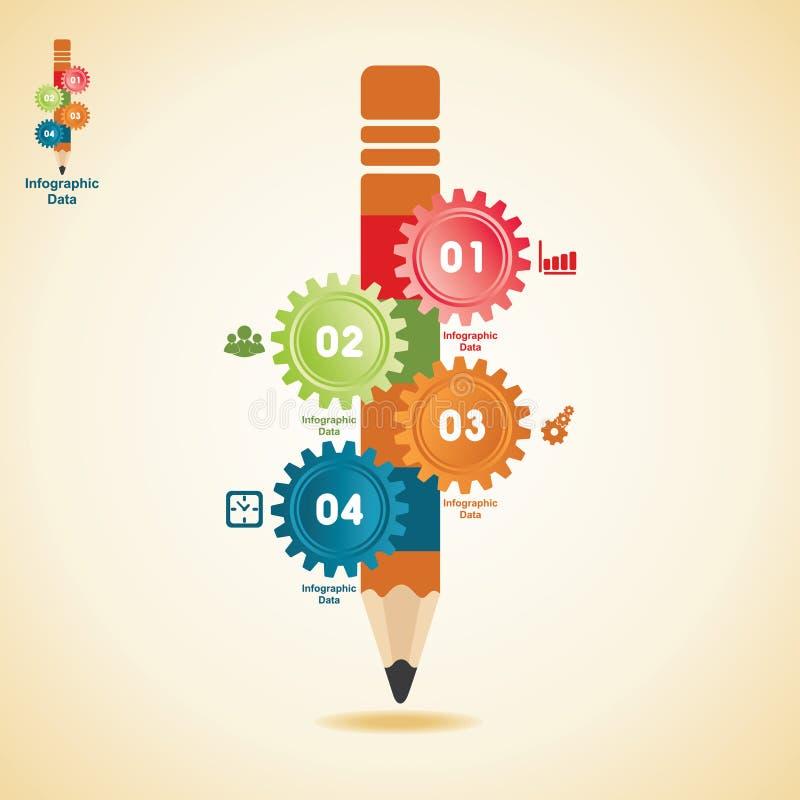 Creatieve toestellen informatie-Grafiek optiesbanner royalty-vrije illustratie
