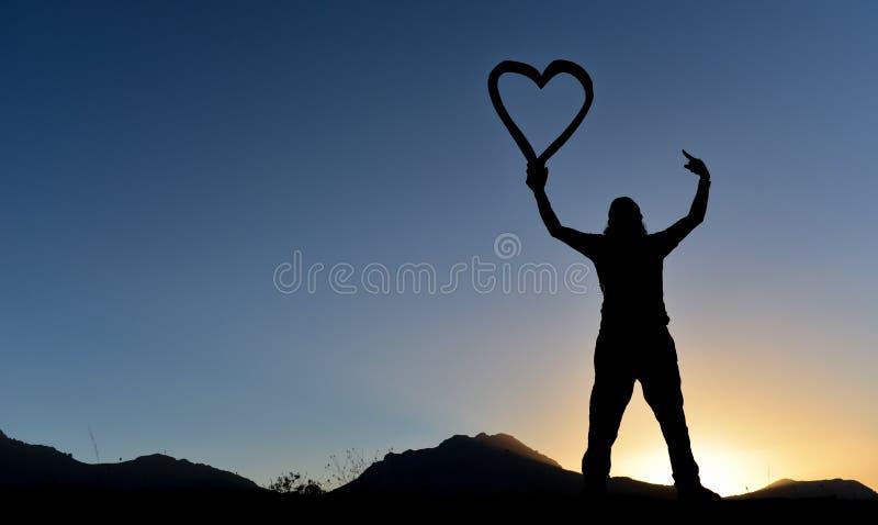 Creatieve uitdrukking van liefde royalty-vrije stock foto's