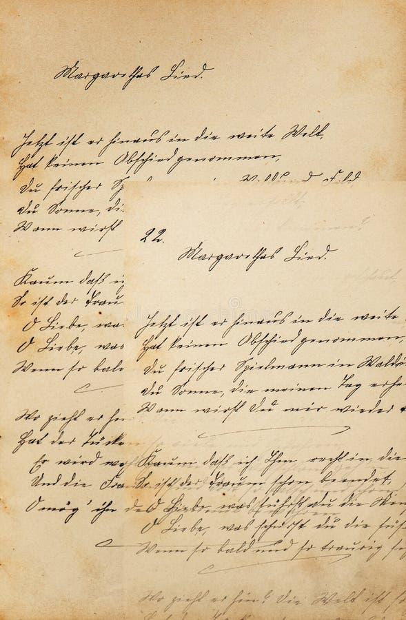 Creatieve uitstekende document textuur achtergrondhandschrift retro toon stock afbeelding