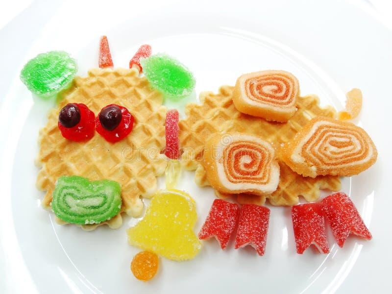 Creatieve van het de gelei zoete voedsel van het marmeladefruit de stierenvorm stock afbeelding