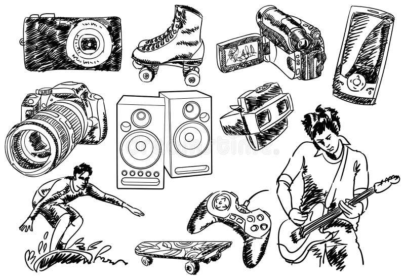 Creatieve vastgestelde #26 vector illustratie