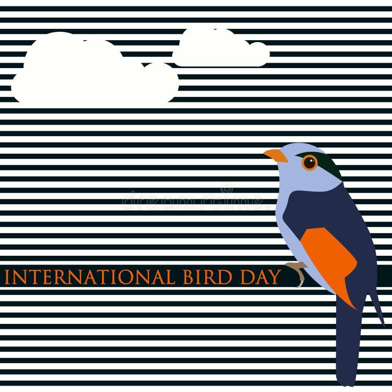 Creatieve vector abstracte moderne achtergrond voor Internationale Vogeldag vector illustratie