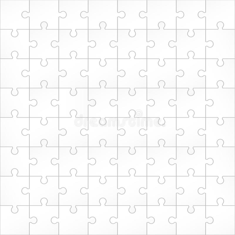 Creatieve vectorillustratie van de achtergrond van puzzelstukken Malplaatje van het het ontwerp het lege model van de bedrijfscon vector illustratie