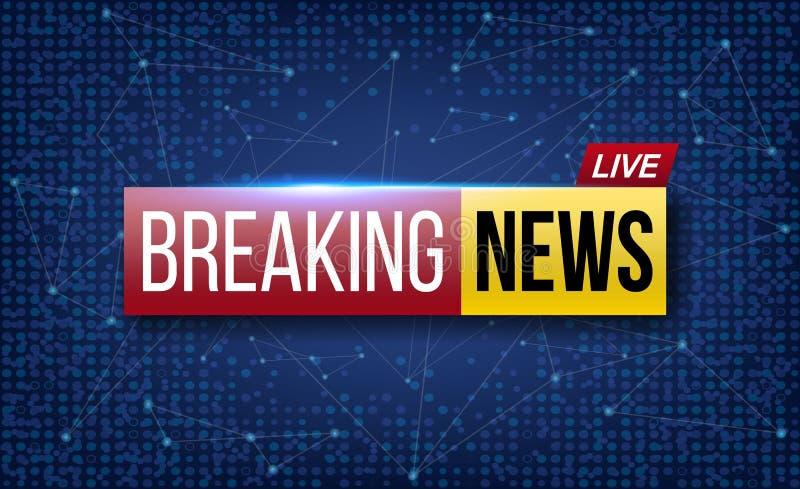 Creatieve vectorillustratie van wereld levend brekend nieuws TV-het kanaal toont het ontwerp van de uitzendingskunst Zaken, techn stock illustratie