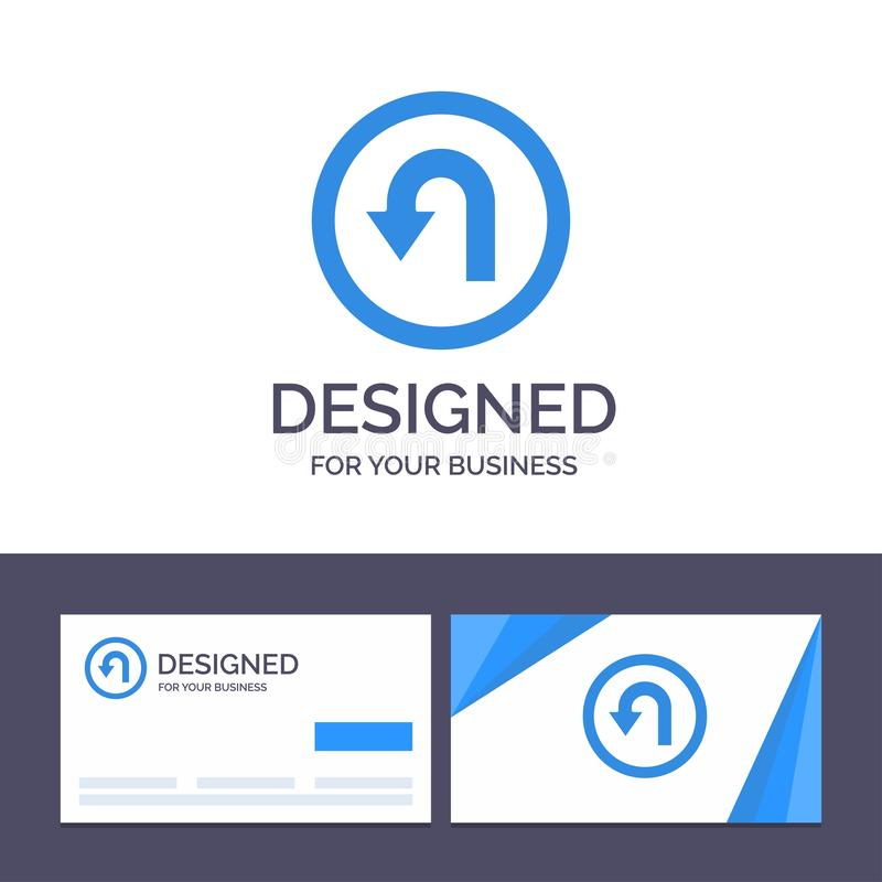 Creatieve Visitekaartje en Embleemmalplaatjepijl, Rug, Navigatie, Manier Vectorillustratie stock illustratie