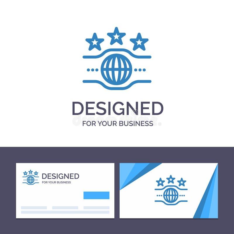 Creatieve Visitekaartje en Embleemmalplaatjeriem, Kampioen, Kampioenschap, Sport Vectorillustratie royalty-vrije illustratie