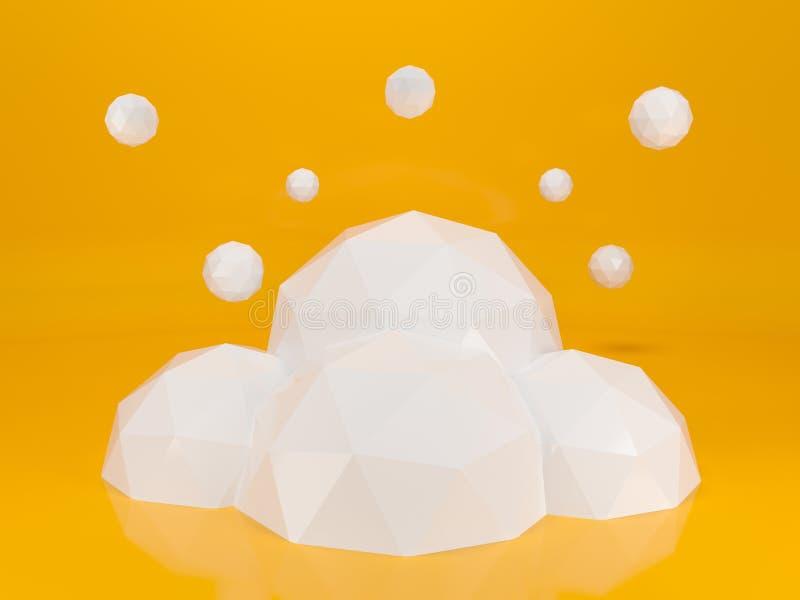 Creatieve wolkenachtergrond voor uw zaken 3D Illustratie vector illustratie