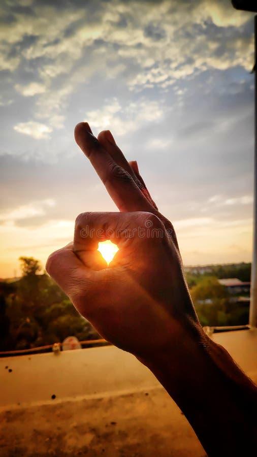 Creatieve zonsondergang stock fotografie