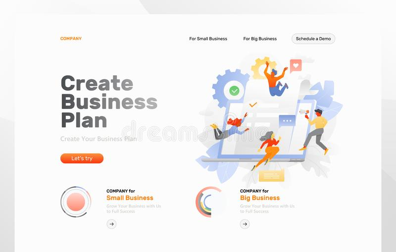 Creating Business Plan Web Page royalty free illustration