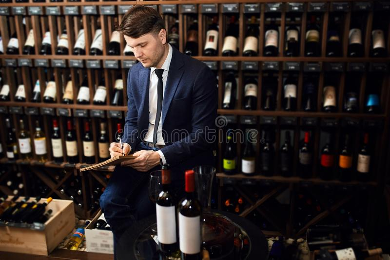 Creating a diverse wine list at price points for all diners. Close up photo. copy space royalty free stock photos