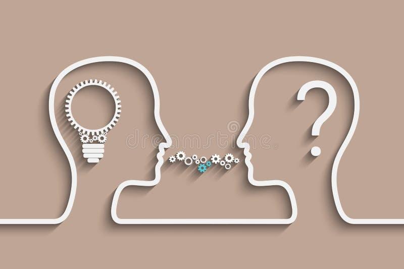 Creating Idea royalty free illustration