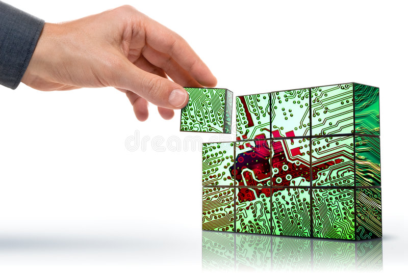 Creating technology stock image