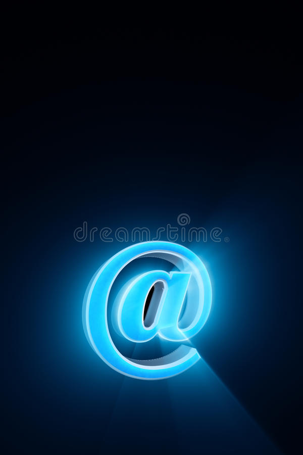Creating and using an e-mail. @ - Symbol. The era of Internet co. Using an e-mail @ - symbol. Available in high-resolution and several sizes to fit the needs of stock illustration