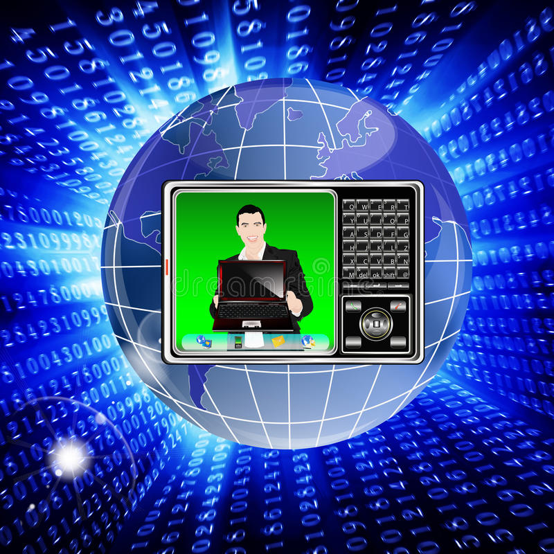 Download Creation Of Hi-tech Models Of Phones Stock Illustration - Image: 21837018