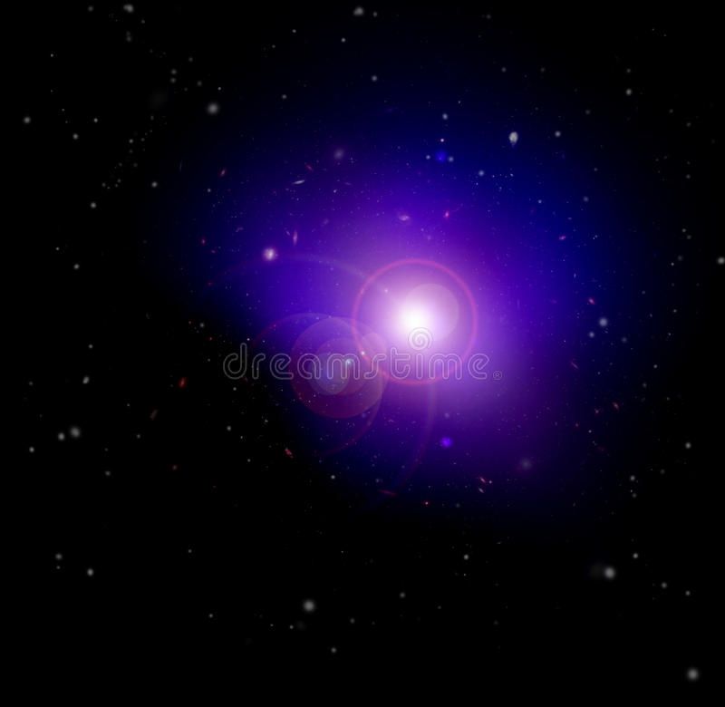 Creation in Space stock illustration