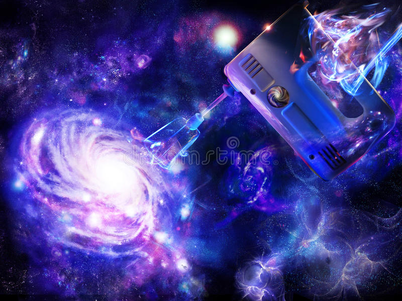 Download Creation Of A Spiral Galaxy Stock Illustration - Image: 17126761