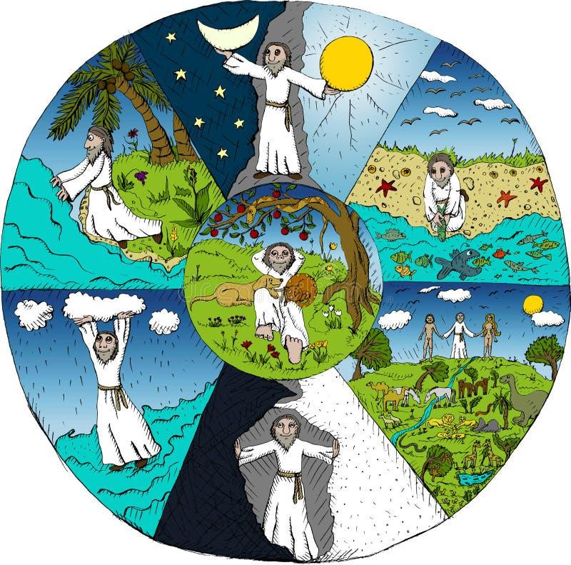 Creation of the world royalty free illustration